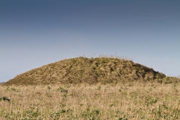 Neolithic burial mound Cranborne Chase,Dorset, UK