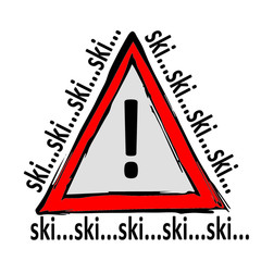Achtung Skifahrer !