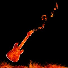 Guitarra infernal.