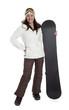 Pretty Woman Snowboarder