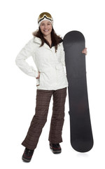 Pretty Woman Snowboarder