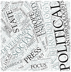 Political anthropology Disciplines Concept