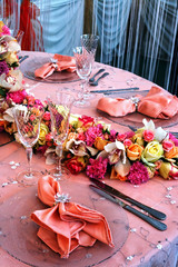 Arrangement for the wedding dinner party-6