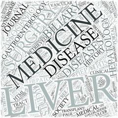 Hepatology Disciplines Concept