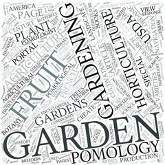 Pomology Disciplines Concept