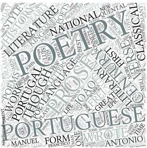 Portuguese literature Disciplines Concept