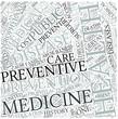 Preventive medicine Disciplines Concept