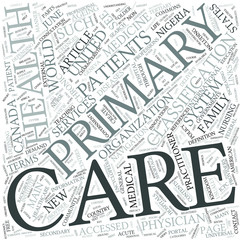Primary care Disciplines Concept