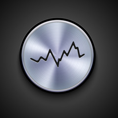 vector metal icon on gray background. Eps10
