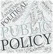 Public policy Disciplines Concept