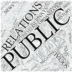 Public relations Disciplines Concept