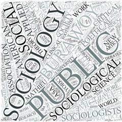 Public sociology Disciplines Concept