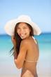 Asian woman beach portrait
