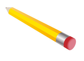 The pencil yellow with erasers.