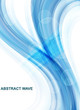 abstract blue business technology colorful wave brochure vector