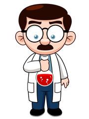 Illustration of Cartoon Scientist