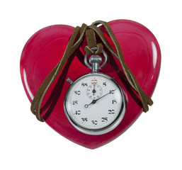 Stopwatch on a Red Heart