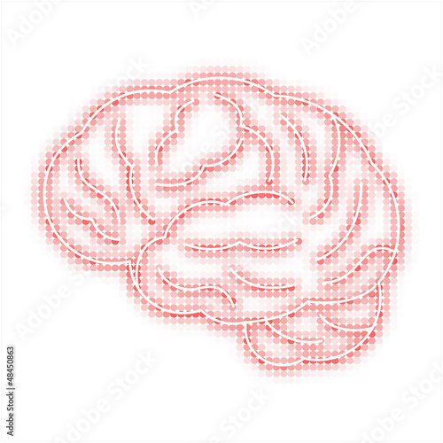 Creative Human brain vector