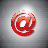 3D email icon with grey background