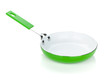 Green colored frying pan