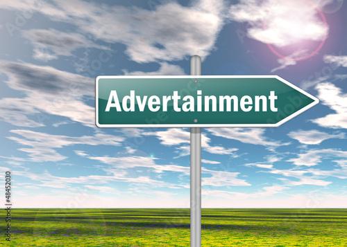 "Signpost ""Advertainment"""