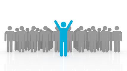 3d illustration of leadership