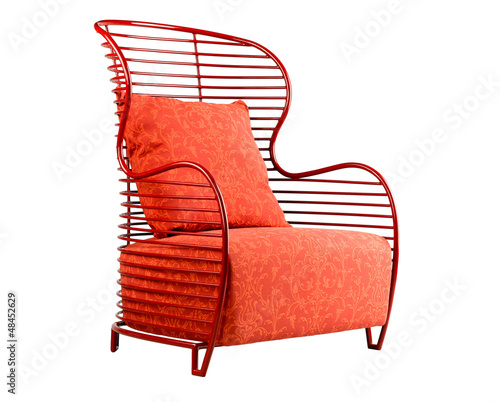 Red armchair suitable for your relaxing time