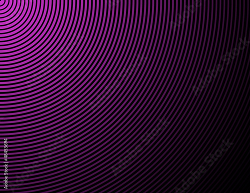 Concentric rings, circles - abstract background in purple and bl