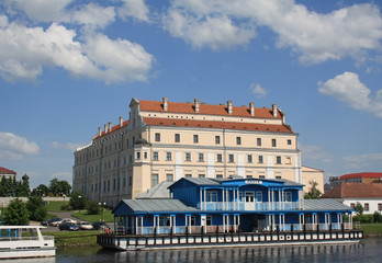 Pier and Jesuit collegium building in Pinsk