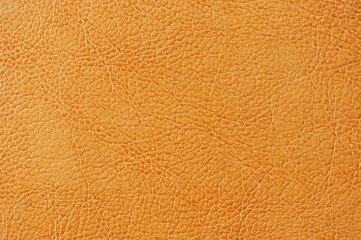 Orange Artificial Leather Background Texture