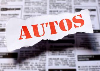 vente de voiture dans les journaux