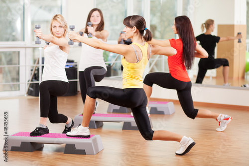 Group training in a fitness center