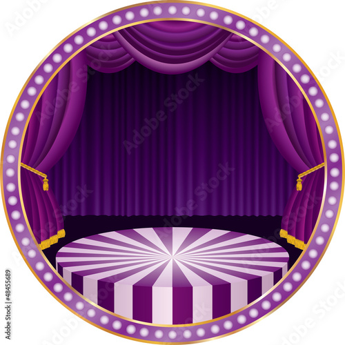 purple circle stage