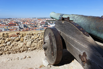 famous cannon of Saint George Castle