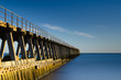 Blyth pier in smooth water