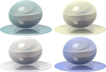 Colored crystal magic balls