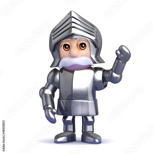 Knight is waving