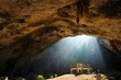 Golden temple in cave