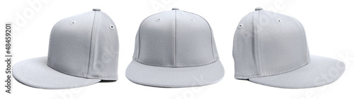 Grey Baseball Cap at Different Angles
