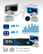 elements of business and finance infographics vector