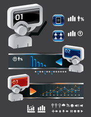info graphic finance and business vector with icons