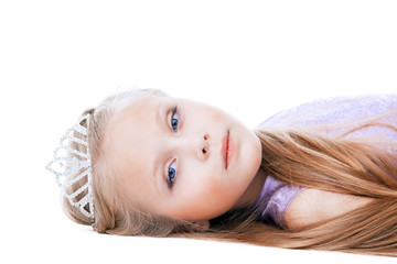 Beautiful little girl in tiara