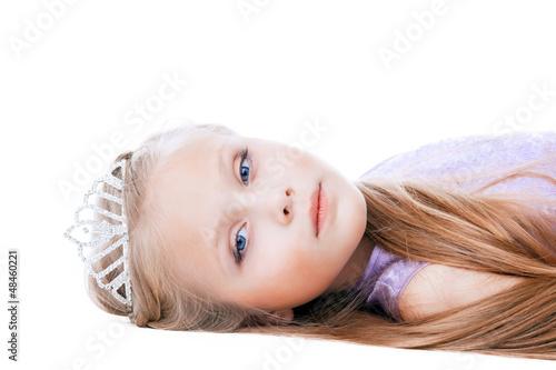 Beautiful little girl in tiara