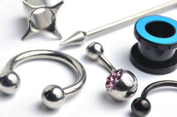 Many jewelry for the piercing