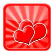 Valentine hearts icon