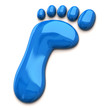 Illustration of blue footprint