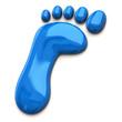Illustration of blue footprint
