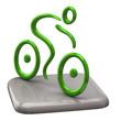 Illustration of green cyclist