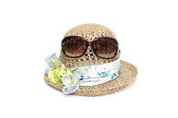 lady's hat isolated on white background