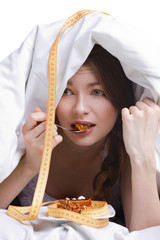 young  girl on diet